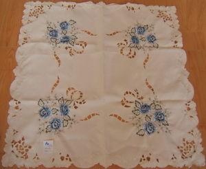 Cutwork Satin Embroidery Tablecloth (MA2949)