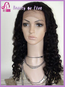 Good Quality Hand Made Womens Human Hair Full Lace Wigs pictures & photos