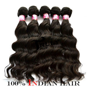 "100% Indian Remy Virgin Human Hair Extension (TR-5INW-12""-30""), Natural Color"