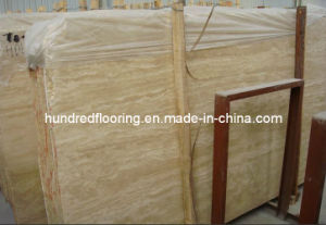 Stone Marble Slab Beige Travertine pictures & photos