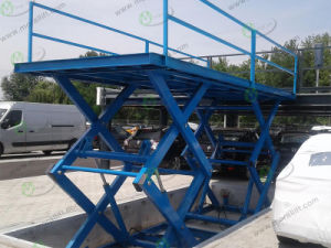 Underground Garage Hydraulic Scissor Car Lift with Low Price pictures & photos