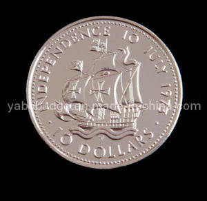 Double-Sided Coin With Soft Enamel and Epoxy Done (YB-002)
