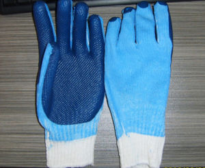 7 Gauge Coated Latex Working Glove pictures & photos