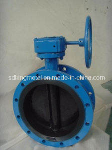 Rubber Seat Worm-Drive Flanged Butterfly Valve pictures & photos