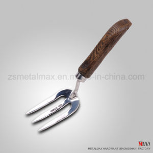 Wholesale Rugged Stainless Steel Garden Farm Digging Tool Ash Wood Handle Hand Fork pictures & photos