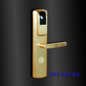 Copper Forging Fingerprint Lock for Household / Office / Apartment (ZW-INV2013-PB) pictures & photos