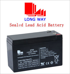 12V8ah Light and Fire & Security Lead Acid Battery pictures & photos