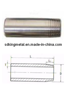 Stainless Steel Half-Threaded Short Pipe Nipple pictures & photos