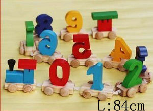 Wooden Train/ Nunmber Train/ Wooden Toy (HSG-T-001)