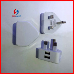 UK Plug 2 USB Charge for iPad /iPhone pictures & photos
