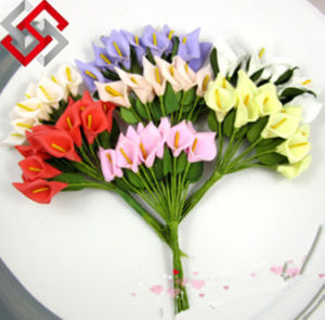Calla Lily Artificial PE Flowers for Home Hotel Wedding Party