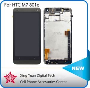 New Tested High Quality LCD Display with Touch Screen Digitizer Pantalla + Frame for HTC One M7 801e Negro Black