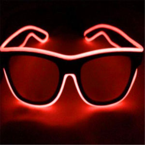LED EL Wire Luminous Sunglasses pictures & photos
