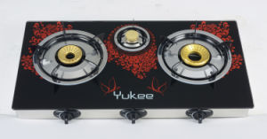 2 Burners Tempered Glass Gas Stove (YD-3GT01-1)