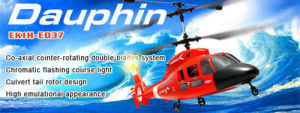 Dauphin 4CH Co-Axial RTF RC Helicopter (EK1H-E037)