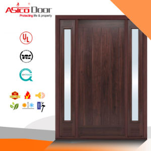 Glazed Solid Wooden Fire Door Manufacturer of Britain Certified pictures & photos