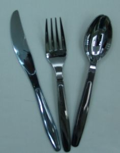 Stainless Silver Color Coated Plastic Cutlery pictures & photos