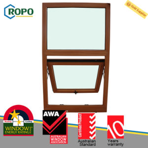 UPVC Wooden Colour Top Hung Push out Windows pictures & photos