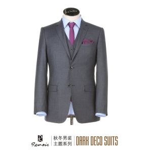 OEM 3 Pieces Slim Fit Men′s Business Suit pictures & photos