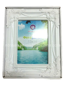 White Plastic Picture/Photo Frame (HF802-3)