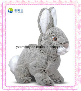 Grey Jumping Plush Rabbit Bunny Toy (XDT-0127Q) pictures & photos