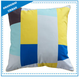 Vertical Colorblock Printed Polyester Filled Cushion pictures & photos