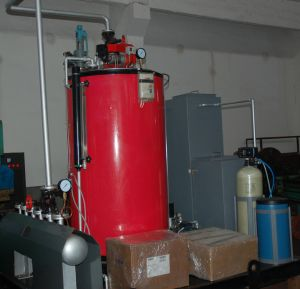 Vertical Water Tube Gas Steam Boiler (200KG/440LB 7BAR/102PSI) pictures & photos