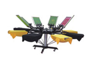 8 Color 8 Station Manual Screen Printing Machine Press pictures & photos