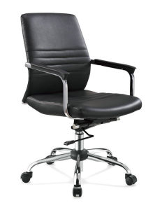Black Leather Office Reception Room Chairs pictures & photos
