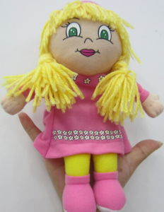 Soft Plush Girl Hand Puppet