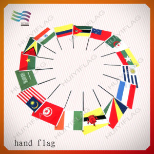 Plastic Pole National Country Hand Held Flag (HYHF-AF016) pictures & photos