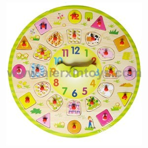 Wooden Clocks Toy (81369) pictures & photos