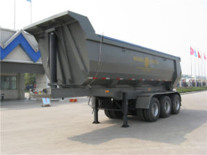 40 Tons Dumping Semi Trailer with Hyva Hydraulic pictures & photos