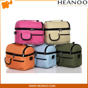 Fashionable Personal Insulated Lunch Cool Picnic Bag with Bottle Holder pictures & photos