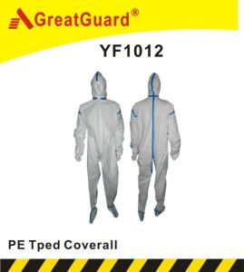 Disposable PE Taped Coverall pictures & photos