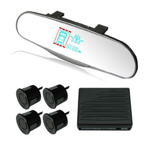 Super Thin VFD Mirror Parking Sensor with Policeman Image (Q-060C)