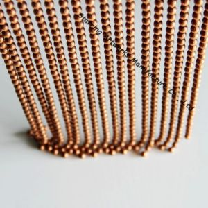Custom Copper Color Plated Steel Metal Bead Hanging Chain Curtain pictures & photos