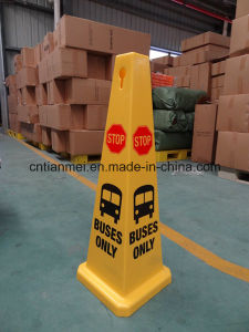 Buses Only Stop Sign, PP Traffic Safety Cone Sign pictures & photos
