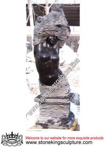 Outdoor Stone Fountain, Stone Abstract Sculpture (SK-2431) pictures & photos