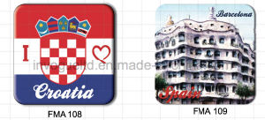 Customized Tin Plate Fridge Magnet for Souvenir (FMA108 & FMA109) pictures & photos