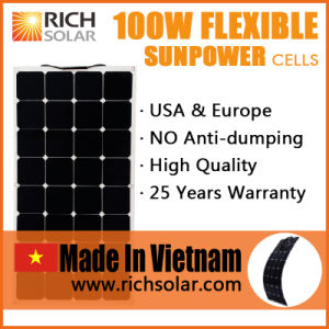 100W 12V Flexible Sunpower Solar Panel Solar Cell