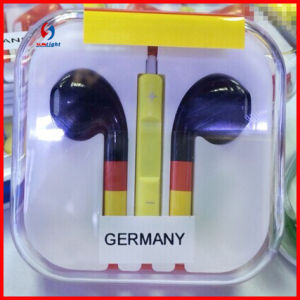 Original Quality for iPhone5 World Cup Earphone with Mic and Remote pictures & photos