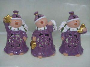 Ceramic Christmas Purpel Snowman (Sc-9820)