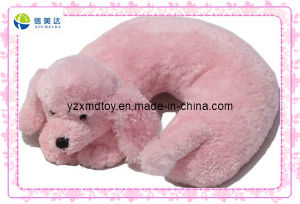 Pink Soft Dog Plush Neck Pillow for Kids (XDT-0269) pictures & photos