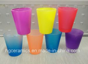 Spray Color Short Glass Mug, 1.5oz Color Spray Glass Mug pictures & photos