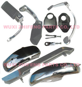 Motorcycle Spare Parts-Gn125 Front Footrest, Side Stanf, Brake Pedal etc.