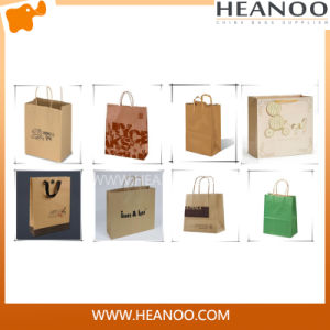 Eco Customized Hot Stamped Logo Shopping Gift Paper Bag pictures & photos