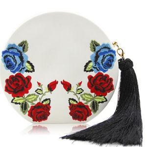 Fashionable Women Clutch Party Bag Round Embroidery Ladies Evening Bags with Tassel for Wholesale Eb917 pictures & photos