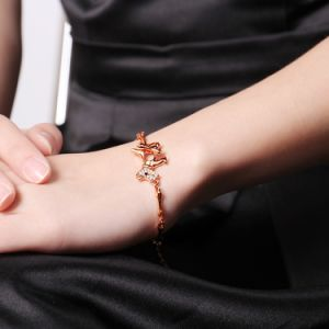 Fashion Rose Gold Plated Rhinestone Dog Bracelet Artificial Jewelry pictures & photos
