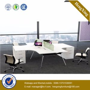 Factory Price 2 Seats Wooden Table Office Furniture (HX-NJ5087) pictures & photos